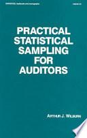 Practical Statistical Sampling for Auditors