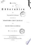 Reisen in Arabien von Heinrich Freiherr von Maltzan
