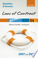 Law of Contract 2007   2008