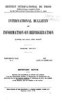 International Bulletin of Information on Refrigeration
