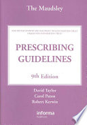 The Maudsley Prescribing Guidelines