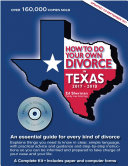 How to Do Your Own Divorce in Texas 2017   2019