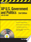 CliffsNotes AP U S  Government and Politics with CD ROM