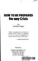 How To Be Prepared For Any Crisis