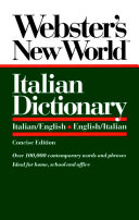 Webster s New World Italian Dictionary