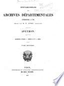 Inventaire sommaire des Archives départementales antérieures à 1790