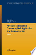 Advances in Electronic Commerce  Web Application and Communication
