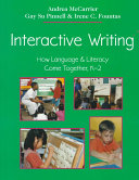 Interactive Writing Of Writing And Has Special Relevance