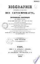 Biographie universelle et portative des contemporains  ou Dictionnaire historique des hommes vivants et des hommes morts depuis 1788 jusqu    nos jours