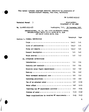 Organizational, DS, GS, and Depot Maintenance Manual: Hewlett-Packard Noise Figure Meter Model 342A and Noise Source Model 349A.