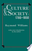 Culture and Society  1780 1950