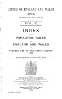 Census of England and Wales. 1911 ...