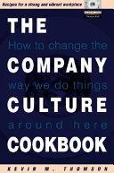 The Company Culture Cookbook