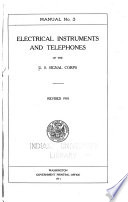 Manual No 3  Electrical Instruments and Telephones  Revised 1910