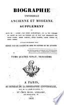 Biographie universelle  ancienne et moderne  ou  Histoire  par ordre alphab  tique