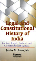 Legal and Constitutional History of India: Ancient legal, judicial, and constitutional system