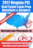 2017 Virginia PSI Real Estate Exam Prep Questions  Answers   Explanations