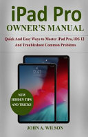 Ipad Pro Owner S Manual