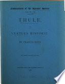 Thule Or Vertues Historie book