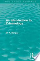 Ebook An Introduction to Criminology Epub W. A. Bonger Apps Read Mobile