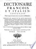 Dictionaire italien-francois (et francois italien) (etc.) Nouvelle ed. revue, corrigee et augmentee considerablement par l'auteur