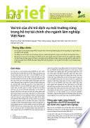Vai trò c a chi tr d ch v môi tru ng r ng trong h tr tài chính cho ngành lâm nghi p Vi t Nam
