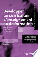 illustration du livre Développer un curriculum d'enseignement ou de formation