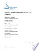 Financial Regulatory Reform and the 111th Congress