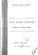 Local Boards Of Health In The State Of New York