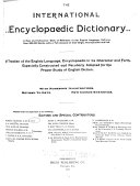 The International Encyclopaedic Dictionary ...