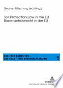Bodenschutzrecht in Der EU