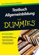 Testbuch Allgemeinbildung f  r Dummies