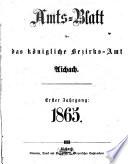 Amtsblatt für das Bezirksamt und Amtsgericht Aichach