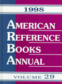 American Reference Books Annual 1998