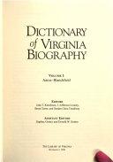 Dictionary Of Virginia Biography Aaroe Blanchfield