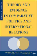 Theory and Evidence in Comparative Politics and International Relations