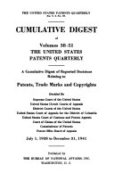 The United States Patents Quarterly Annual Digest
