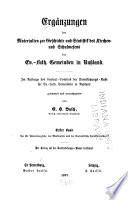 Ergänzungen der Materialien zur Geschichte und Statistik des Kirchen und Schulwesens der Ev-Luth