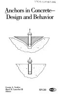 Anchors in concrete  design and behavior