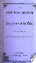 The Maamtrasna massacre. Impeachment of the trials