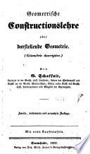 Geometrische Constructionslehre; oder, Darstellende Geometrie