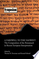 A Farewell to the Yahwist