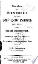 Sammlung der Verordnungen der freyen Hanse-Stadt Hamburg ...