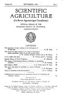 Canadian Journal of Agriculture Science