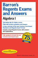 Barron s Regents Exam and Answers  Algebra I
