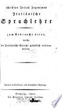 Christian Joseph Jagemanns Italiänische Sprachlehre