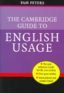 The Cambridge Guide to English Usage