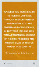 download ebook voyages from montreal, on the river st. laurence pdf epub