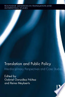 Translation and Public Policy
