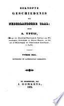 Beknopte Geschiedenis der nederlandsche Tale